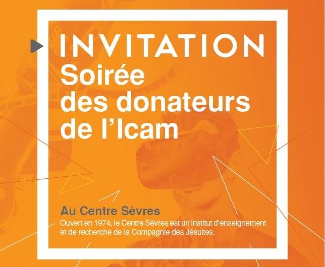 Invitation pour la Soirée des donateurs de l'Icam 2017